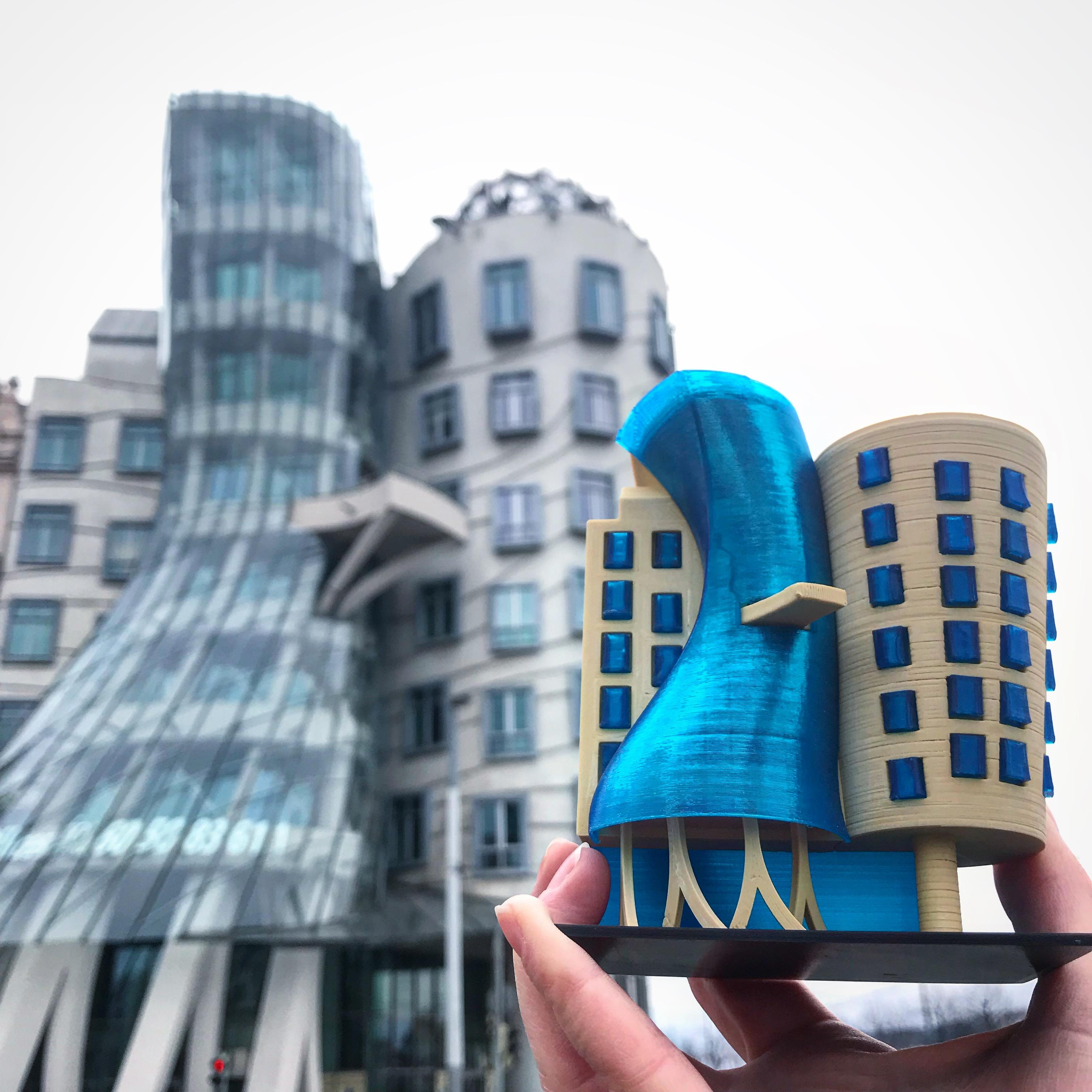 3d Printer Filament >> Dancing house, Prague | 3DPrinTravel.com